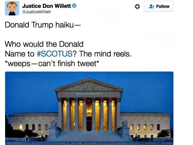 Justice Willitt Trump Tweet