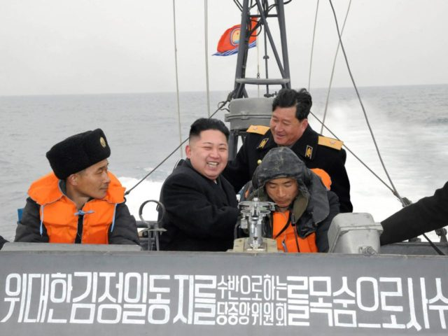 Kim Jong Un on a boat (AP Photo / Korean Central News Agency via Korea News Service)