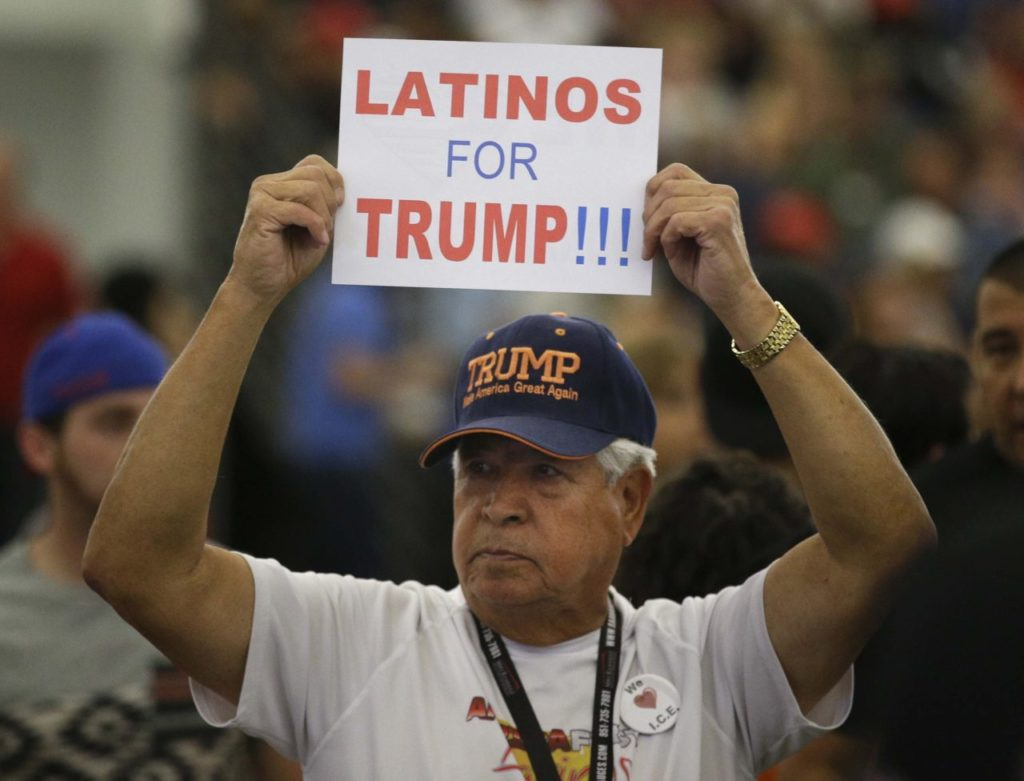 Latinos for Donald Trump in Anaheim (Jae C. Hong / Associated Press)