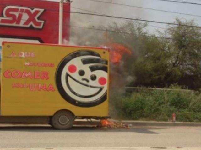 Los Zetas Burned Truck 2