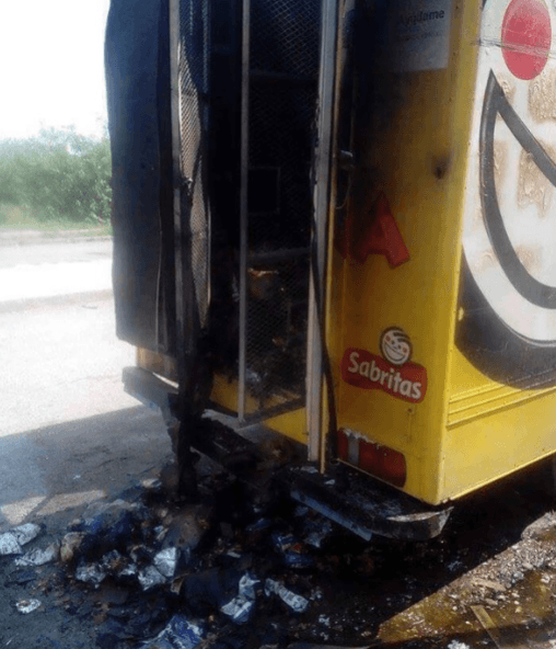 Los Zetas Burned Truck