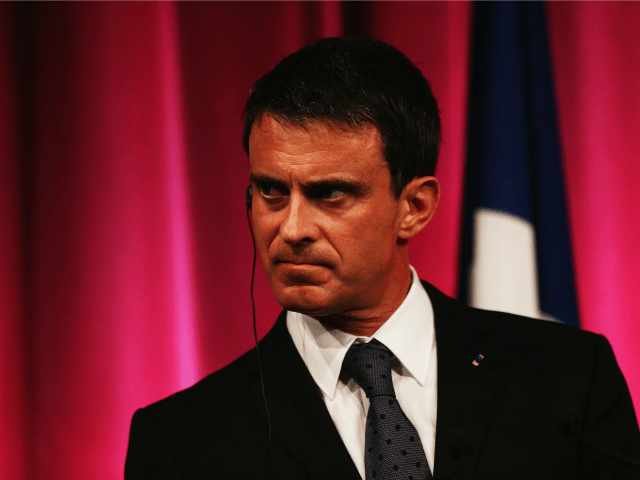 French Prime Minister Manuel Valls speaks during a press conference at the Auckland museum on May 2, 2016 in Auckland, New Zealand.