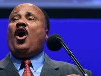 Martin Luther King III speaks at an event to honor his late father Martin Luther King Jr., at the Washington Convention Center on August 25, 2011 in Washington, DC.