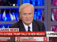 Matthews on New Mexico Trump Protesters: 'I Don't Think They're That Violent'