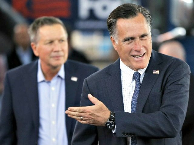 Mitt Romney and John Kasich MATT ROURKE AP