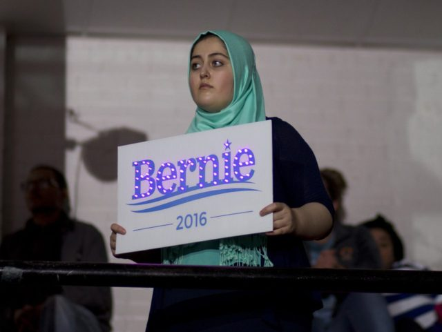 Muslim Bernie Sanders supporter (Jae C. Hong / Associated Press)