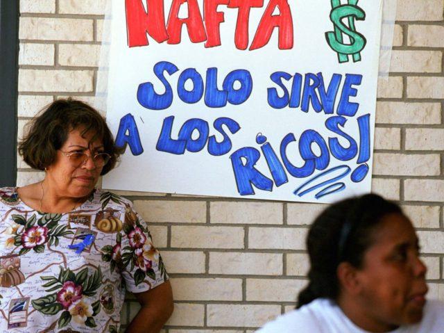 NAFTA protest (Joe Raedle / Getty)