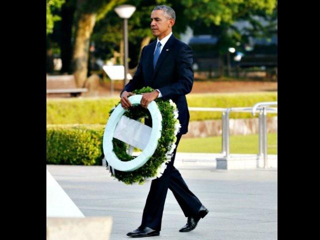 Obama Wreath Japan APShuji Kajiyama