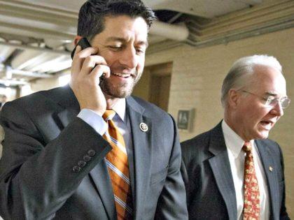 Paul Ryan Takes Phone Call AP