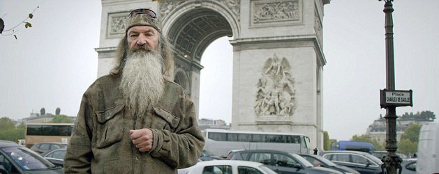 Phil Robertson filming in Paris
