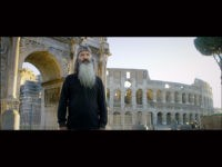 "Phil Robertson filming in Rome before the Coliseum for the documentary ""Torchbearer"""