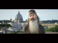 "Phil Robertson filming in Rome for the documentary ""Torchbearer"""