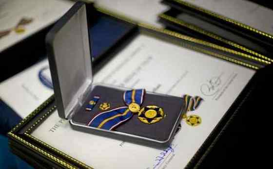 Public Safety Officer Medal of Valor. (AP Photo/Pablo Martinez Monsivais)