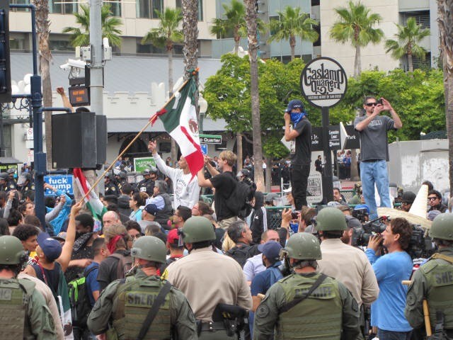 Riot at Donald Trump rally, San Diego (Michelle Moons / Breitbart News)
