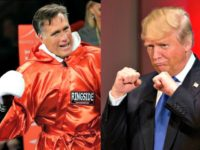 Romney and Trump Boxing AP Photos