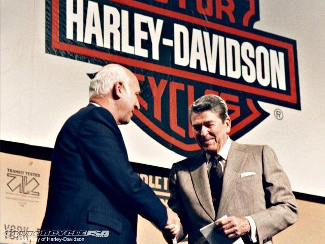 Ronald Reagan and Harley Davidson CEO