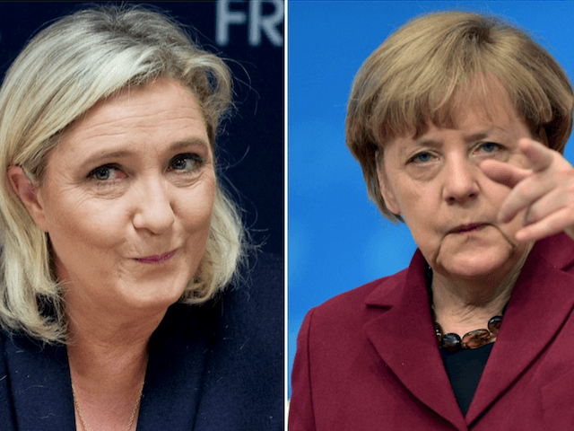 Angela Merkel Marine Le Pen
