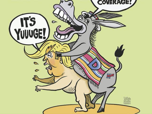 Donkey raping Donald Trump (OC Weekly)