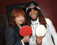 Susan Sarandon and Lil Jon ping pong (wearespin / Instagram)