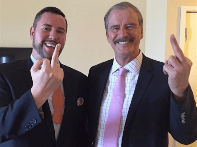 Huffington Post Posts Vicente Fox Giving Donald Trump the Finger (We can jump walls) | Breitbart | 5-10-2016 | Joe Pollak | Posted on 05/10/2016 9:19:56 AM PDT by ghosthost