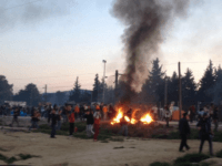 Migrants rioted at Idomeni in Greece