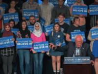Bernie Sanders in Riverside (David McNew / AFP / Getty)