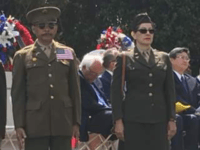 Photo: Bernie Sanders Caught Napping at Memorial Day Ceremony