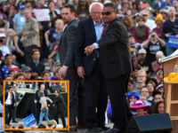 PHOTO: Animal Activists Rush Stage at Bernie Sanders Rally in Oakland