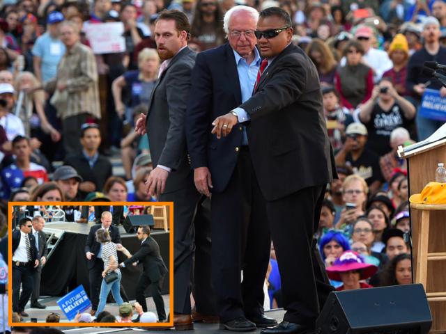 Bernie Sanders protected (Josh Edelson / AFP / Getty)