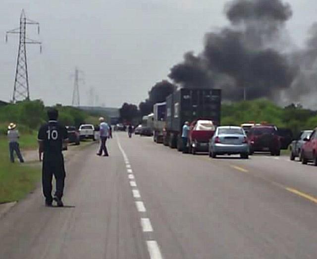 Tamaulipas cartel blockade 2