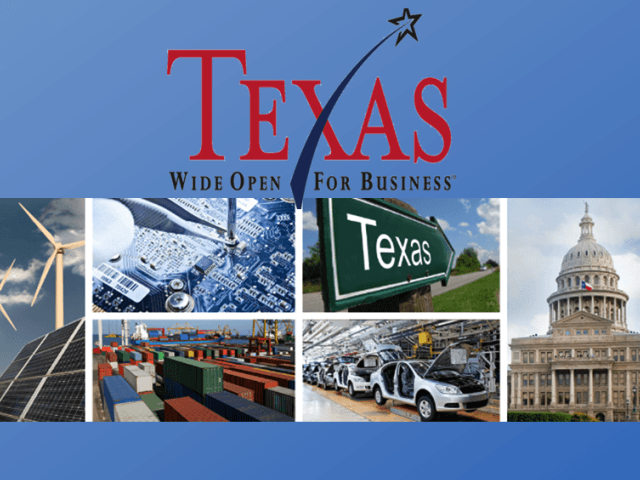 Texas Open For Business Collage