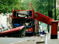 LONDON, United Kingdom: (FILES) The wreck of the Number 30 double-decker bus is pictured in Tavistock Square in central London, 08 July, 2005.