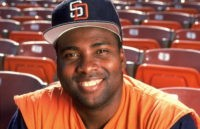 Baseball: Portrait of San Diego Padres Tony Gwynn (19) during photo shoot in stands at Jack Murphy Stadium.San Diego, CA 2/18/1991CREDIT: V.J. Lovero (Photo by VJ Lovero /Sports Illustrated/Getty Images)(Set Number: X41058 )