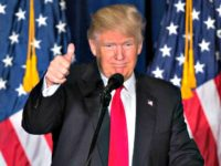 Trump Flags Thumb Up