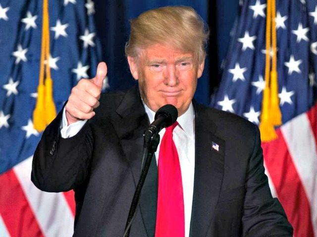 Trump Flags Thumb Up