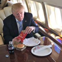 Donald Trump Celebrates 1,238 Delegates with McDonalds