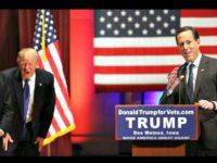 Trump, Santorum AP Harnick