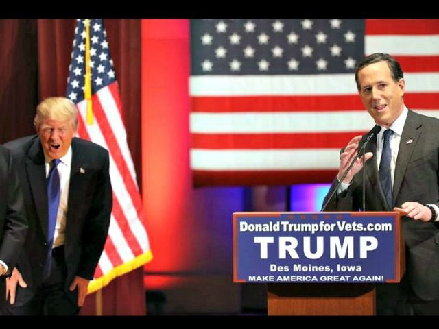 Trump, Santorum AP Harnick