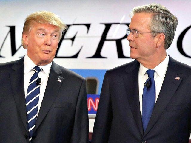 Trump and Bush Debate AP