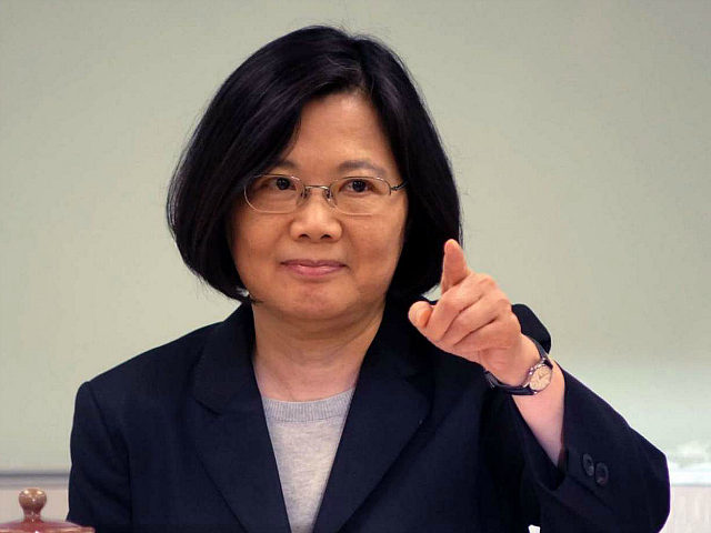 TAIWAN, Taipei : This photograph taken on April 21, 2016 shows Taiwan president-elect Tsai Ing-wen gesturing during a meeting with local enviromental groups in Taipei. When Tsai Ing-wen becomes Taiwan's new president later this month, she will bring an end to a period of unprecedented rapprochement with Beijing -- and China is already ramping up the pressure on her new government. / AFP PHOTO / SAM YEH / TO GO WITH AFP STORY TAIWAN-CHINA-POLITICS-DPP-TSAI,FOCUS BY AMBER WANG