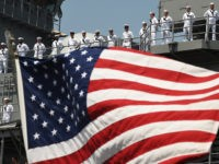 Officers of the USS Bataan Give Memorial Day Salute to the New Greatest Generation