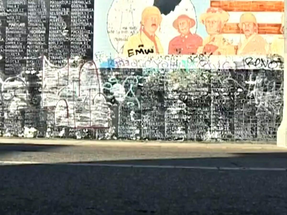 Vietnam Veterans Memorial Spray Paint