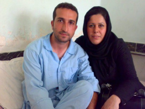 Christian pastor Youcef Nadarkhani with his wife, Fatema Pasindedih, and his two sons