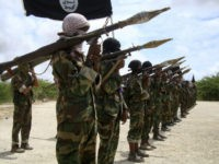 Al Shabaab militants parade new recruits after arriving in Mogadishufrom their training camp south of the capital in this October 21, 2010 file photo. The United States has carried out an air strike in Somalia, killing more than 150 fighters with the al Qaeda-linked Islamist... REUTERS/FEISAL OMAR/FILES