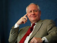 WASHINGTON, DC - OCTOBER 03: The Weekly Standard Editor William Kristol (L) leads a discussion on PayPal co-founder and former CEO Peter Thiel's National Review article, 'The End of the Future,' at the National Press Club October 3, 2011 in Washington, DC. Kristol is on the advisory board of e21, …