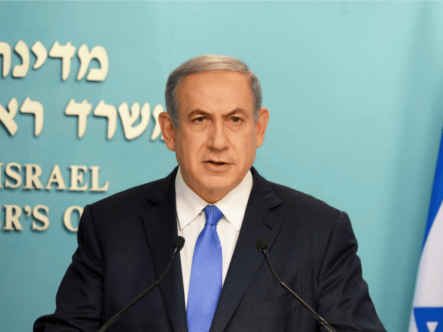 In this handout provided by the Government Press Office, Israeli Prime Minister Benjamin Netanyah delivers his statement regrading the agreement with Iran, on July 14, 2015 in Jerusalem, Israel.