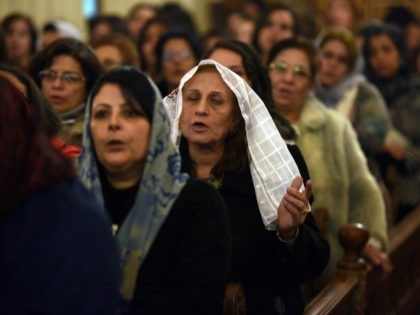 Egyptian Coptic Christians celebrate Christmas in Cairo, Egypt, on January 06, 2016.