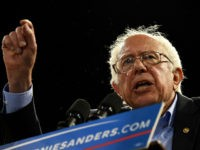 Democratic presidential candidate Bernie Sanders addresses a primary night election rally in Carson, California, May 17, 2016. Sanders scored a decisive victory over Hillary Clinton in the Democratic primary in Oregon, boosting his argument for keeping his underdog campaign alive through the conclusion of the primary process. Several US networks …