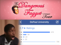 DePaul Facebook Rating Craters After Milo Debacle