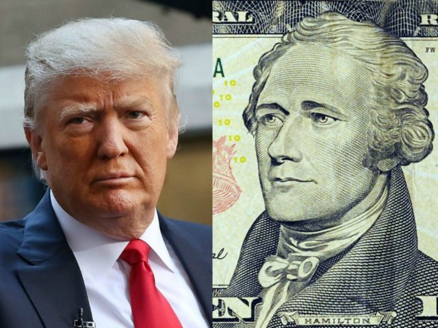 UNITED STATES, Washington : This March 29, 2009 photo illustration shows Alexander Hamilton on the front of the USD 10 note in Washington, DC. AFP PHOTO/Karen BLEIER